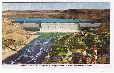 Grand Coulee Dam In Washington State Postcard Unused # 10056