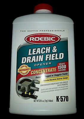 Roebic K-570 32 Ounce Leach And Drain Field Opener Concentrate Sealed free S/H