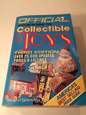 1985 Official Price Guide To Collectible Toys Third Edition Book