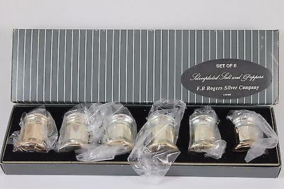 Vintage Set of 6 Silver-plated Salt and Pepper Shakers F.B. Rogers