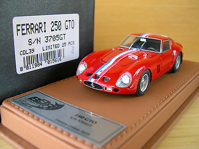 1/43 Calsito BBR Ferrari 250 GTO Red w/ French Flag S/N3705GT #08/25 (CDL39) NEW