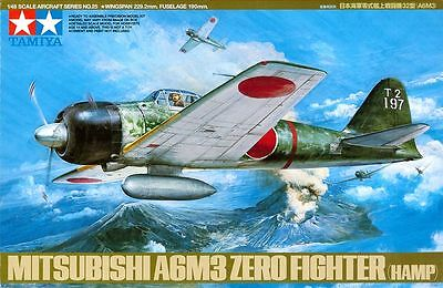 Tamiya 61025 1/48 Aircraft Model Kit Mitsubishi A6M3 Zero Fighter Type 32(Hamp)