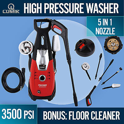 High Pressure Water 3500 PSI Cleaner Washer Electric Pump Hose Gurney Many Extra