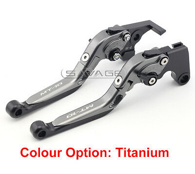Folding Extendable Brake & Clutch Levers For Yamaha MT-10 MT10 FZ-10 2016-2018
