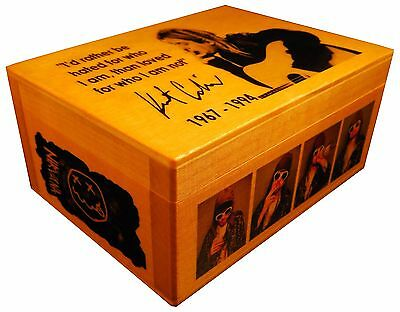 Kurt Cobain, Nirvana figure statue  BOX with SIGNED AUTOGRAPHED, Poster, Quote