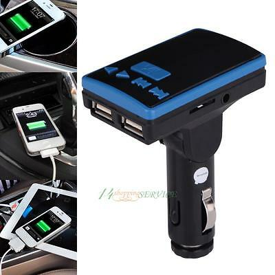 Car Kit Wireless Bluetooth FM Transmitter MP3 Music Player Hands-free LCD Remote