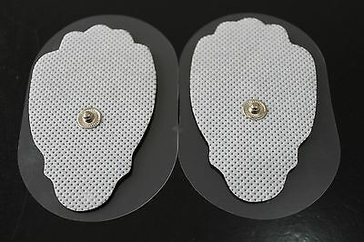 *BONUS!* 10 TENS Large 'Snap On' Replacement Electrode Pads for hidow & similar