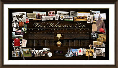 The History Of The Melbourne Cup Limited Edition Print   Phar Lap  Bart Cummings