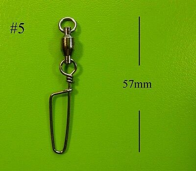 50x DFS size 5, BALL BEARING SWIVELS WITH COASTLOCK SNAP SIZE lures