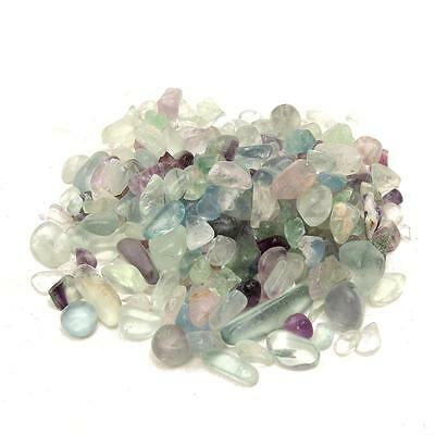 50g Natural Fluorite Quartz Crystal Stone Rock Rough Polished Gravel Craft 3-8mm