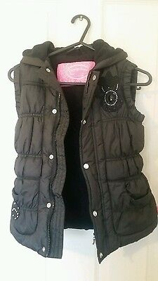 Pampolina girls gilet 5-6 years black with diamonte detail