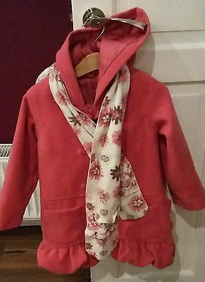 Age 3 to 4 girls coat winter coral soft duffle coat