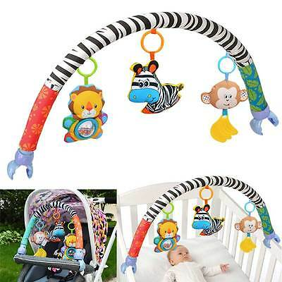 Kids Take Along Travel Toy Arch  Babyplay Bed Crib Stroller Bell Ring Car Seat