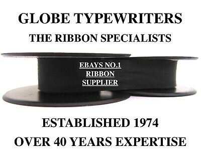 1 x 'UNDERWOOD 2' *BLACK* TOP QUALITY *10M* TYPEWRITER RIBBON TWIN SPOOL (*R/W*)