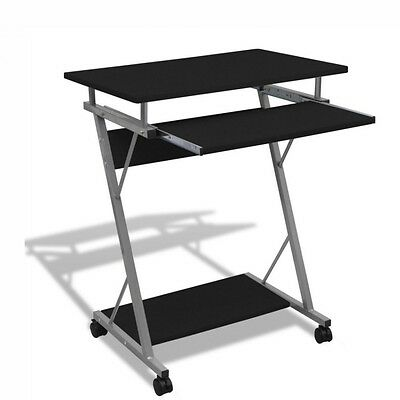 NEW Mobile Computer Table Black Desk Laptop Stand Keyboard Tray Office Student
