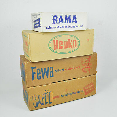 Pril Fewa Henko Rama – Alte Verpackungen Deko – Vintage Old Packaging Germany
