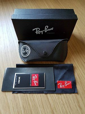 Ray Ban Sunglasses Black Light Weight Case Cloth & Box Included