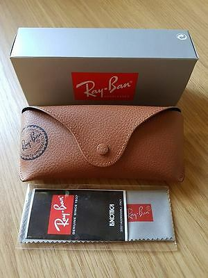 Ray Ban Sunglasses Brown Case Cloth & Box Included