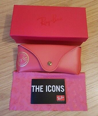 Ray Ban Red Sunglasses Case Cloth & Box Included