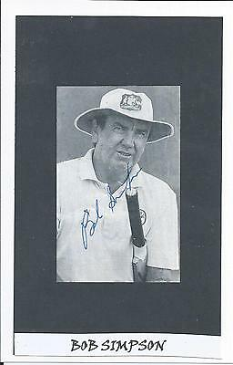 Bob Simpson - Australian Cricket Captain And Coach - Autographed Photograph Coa