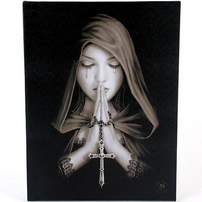 Fantasy Gothic Art Canvas Wall Plaque~Gothic Prayer~ Anne Stokes~K~uk seller
