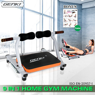 9in1 Wonder Smart Core Exercise Trainer Ab Workout Fitness Home Body Gym Machine