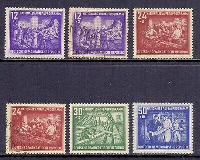 East Germany. Mint LH set and 2 used. Issued 1952.