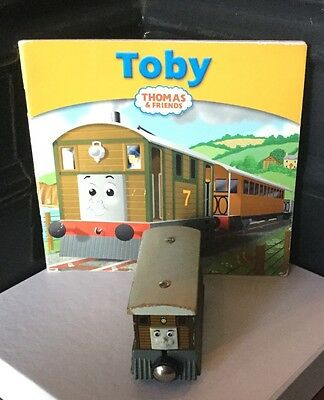 Thomas The Tank Engine - TOBY wooden toy and book