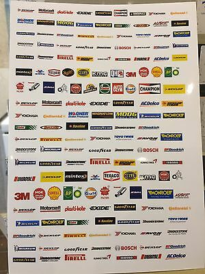 1/18 diorama Decal Sheet Of Motor Product Brand Names/sponsors