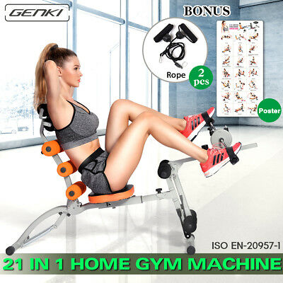 21 in 1 Smart Body Gym Machine AB Workout System Fitness Core Bicycle Trainer