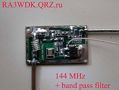 LNA 144 MHz with filter, High IP3, Low noise, SPF5189z