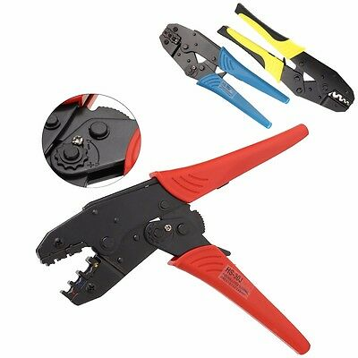 0.5-6.0mm² 22-10AWG Crimping Pliers Insulated Terminals Ratchet Tool Wire Plier