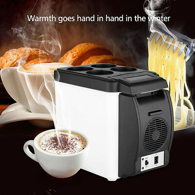 6L Car Mini Fridge Portable Thermoelectric Cooler Warmer Travel Refrigerator EPY