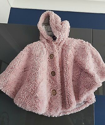 Next girls pink fur coat 1-2 years