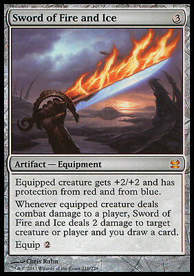 SWORD OF FIRE AND ICE Modern Masters MTG Artifact MYTHIC RARE