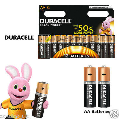 Duracell MN1500B12 Plus Power AA Size Batteries Alkaline Pack of 12 10 Battery