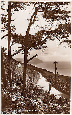 Postcard Lyme Regis Dorset early Road To Charmouth RP by Raphael Tuck
