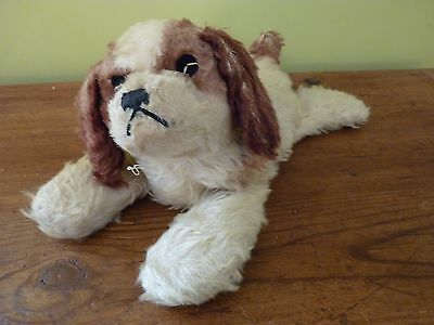 Antique / Vintage Collectable  Mohair  Puppy   With Bell In His Paw . Steiff ?