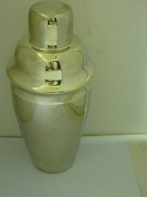 Cocktail Shaker. Stainless Steel. With Built In Sieve. Vgc. Can Combine Post