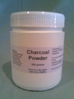 Steam Activated Charcoal Carbon Food Grade Ultra Fine POWDER 200g