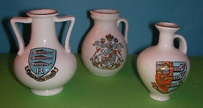 Goss Crested China Kingston upon Thames, Newcastle under Lyme, Birchington Crest