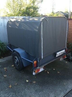 Single Axel 6x4 Trailer With Enclosed Heavy Mesh