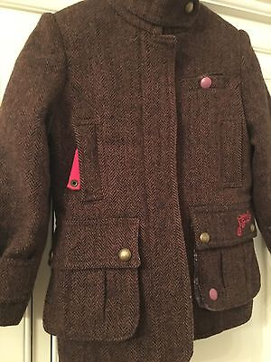 Girls Joules Tweed Jacket Age 3