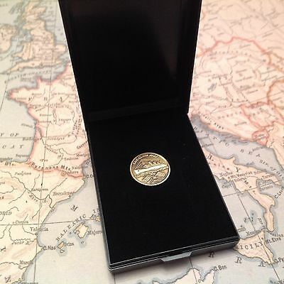 Queen Mary Lapel Pin (Made From Propeller ) Collectable
