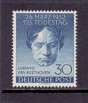 Germany - West Berlin. 30pf Blue. Mint LH. Commemoration stamp 1952. Cat £50