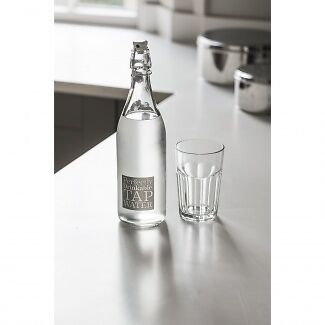 Garden Trading Tap Water Bottle - Glass Water Bottle - Lovely gift idea