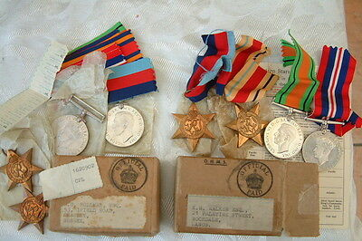 2x WW2 RAF ROYAL AIR FORCE MEDAL GROUPS INC POSSIBLE CASUALTY - HOLLMAN + WALKER