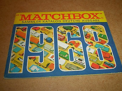 Matchbox Toy Catalogue 1968 German Edition Near Excellent Condition