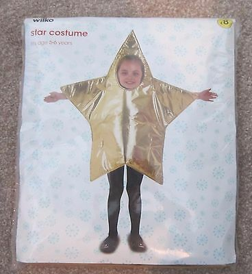 Kids Dress Up Star Costume. Aged 5-6 Years. Bnwt. Fancy Dress Christmas Star.