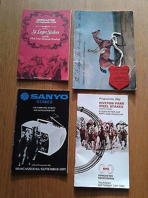 Collection 4x Doncaster St Leger Official Horse Racing programmes racecards